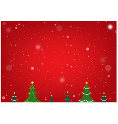 red christmas background with xmas trees vector image