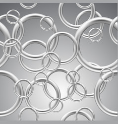 seamless background metal rings vector image