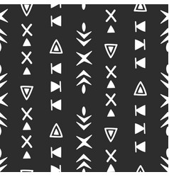 seamless ethnic pattern hand drawn background vector image