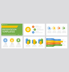 set blue yellow orange and green elements for vector image