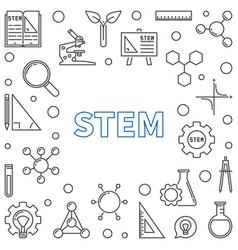 stem concept outline frame vector image