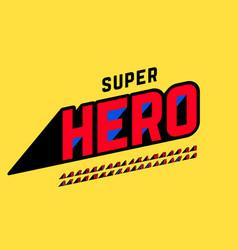 superhero style comics font design alphabet vector image