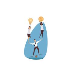 support management leadership teamwork vector image