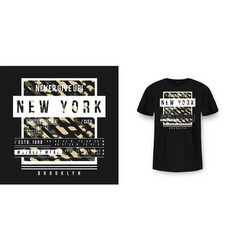 t-shirt design in military army style with vector image