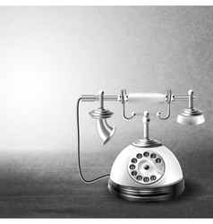 Telephone old black and white vector image