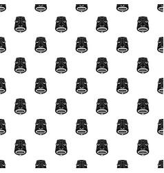 tiki idol pattern seamless vector image