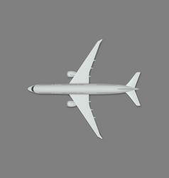 top view airplane vector image