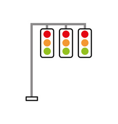 traffic lights electric equipment control vector image