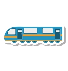 tram transport vehicle isolated icon vector image