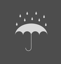 umbrella with water drops fall vector image