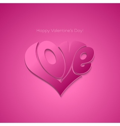 Valentines Card with lettering vector image