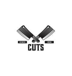 vintage butcher meat cut logo design designs vector image