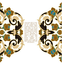 Vintage frame decorative design elements vector