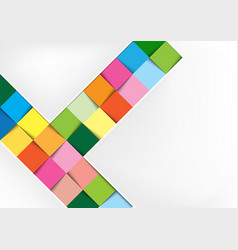 white background with colorful squares vector image