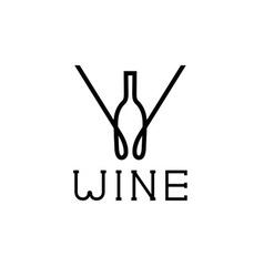 Wine monogram vector