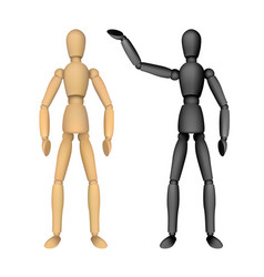 wooden female or male manikin for drawing vector image