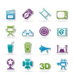 Cinema and Movie icon vector image