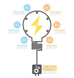 Creative power vector image
