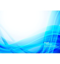 Abstract blue wavy background vector image vector image