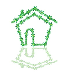 house with flower vector image
