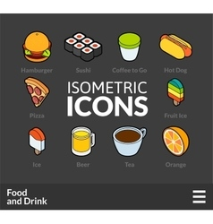 Isometric outline icons set 55 vector image vector image