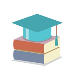 Mortarboard With Books Education Concept vector image
