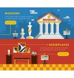 Museum Banner Set vector image vector image