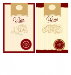 wine labels with stamp vector image