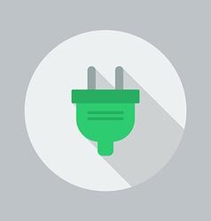 Eco Flat Icon Electric Plug vector image