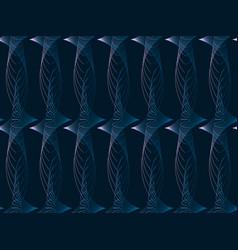 modern seamless pattern with swirls dark vector image