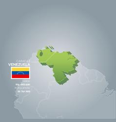 venezuela information map vector image