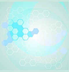 abstract science background with molecule chains vector image
