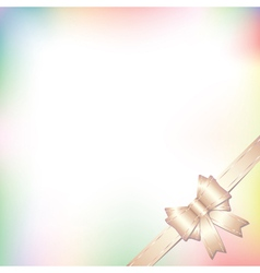 background with bow in pastel colors vector image vector image