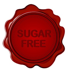 SUGAR FREE wax seal vector image