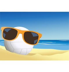 Volleyball on the beach sand vector image vector image