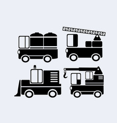 a set car silhouettes vector image
