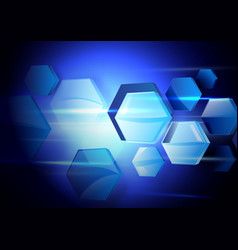 Abstract hexagons technology concept background vector