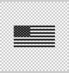 american flag icon isolated flag of usa vector image