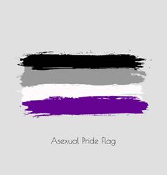Asexual lgbt watercolor flag vector