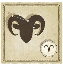 astrological sign - aries vector image