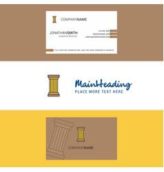 Beautiful piller logo and business card vertical vector