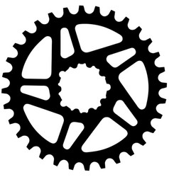 Bicycle chainring vector