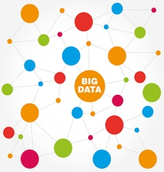 Big data abstract molecule vector image
