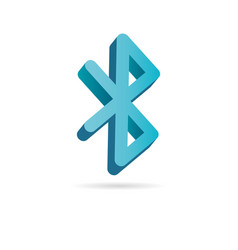 bluetooth 3d icon simple logo bluetooth sign vector image