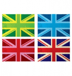 British grunge flags vector image