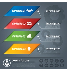 business banner infographics vector image vector image