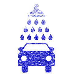 Car shower grunge textured icon vector