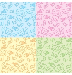 cat patterns vector image