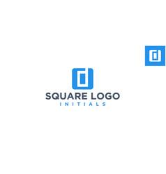 D negative space logo design inspiration vector