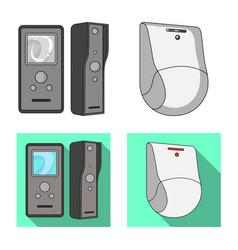 Design of cctv and camera logo collection vector
